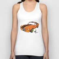 mustang Tank Tops featuring Mustang by Portugal Design Lab