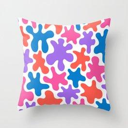 Splatter Mix  Throw Pillow
