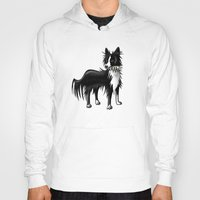 border collie Hoodies featuring Border Collie by ragdollcomics