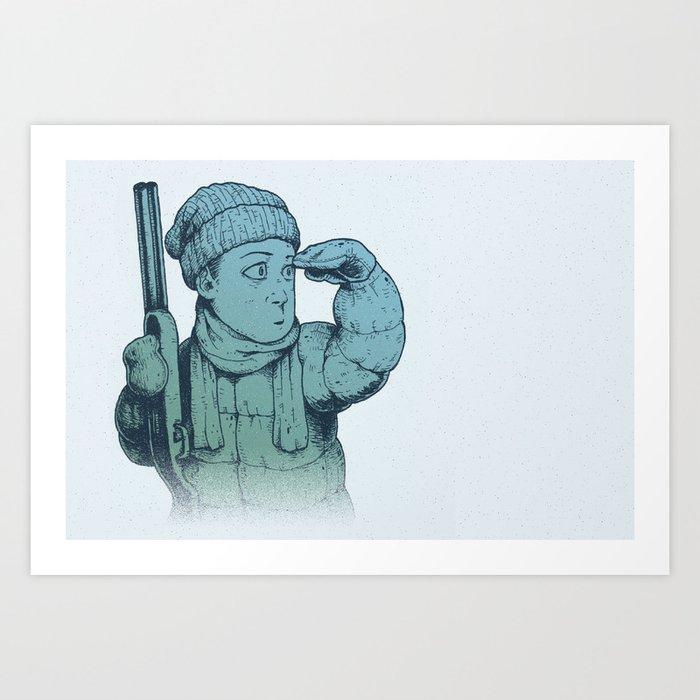 Winter Hunt - Scout Art Print