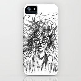 A little Stray Hair iPhone Case