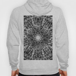 white embroidery mandala on black Hoody