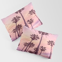 Palms to Pink World Pillow Sham