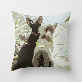 Couple of cats Throw Pillow