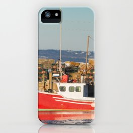 Mill Cove Lobstering iPhone Case