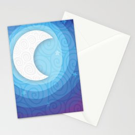 Good Night // Night Time Moon Stationery Cards