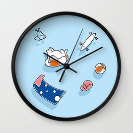 Summer laziness Wall Clock