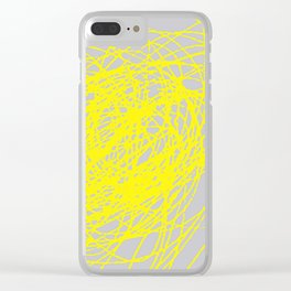 THIS YELLOW COIL Clear iPhone Case