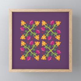 Baltimore Woods Floral Cross Pattern Framed Mini Art Print