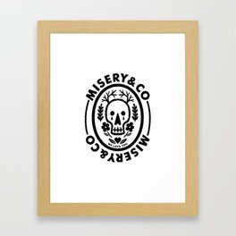 Misery & Company Framed Art Print