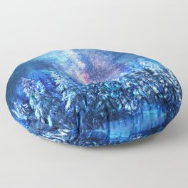 Forest under the Starlight Floor Pillow