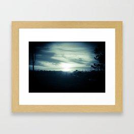 Sunset Mist Framed Art Print