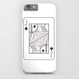 Single playing cards: Jack of Clubs iPhone Case