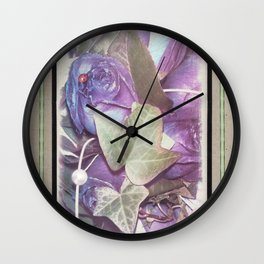 Ultraviolet Bouquet Wall Clock