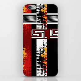 Abstraction .Weave . Patchwork . iPhone Skin