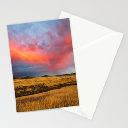 Orange Virga with Rainbow on a Field Stationery Cards