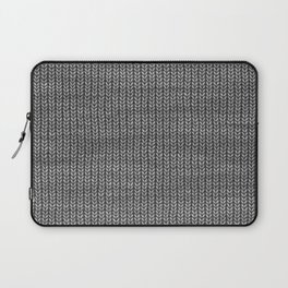 Antiallergenic Hand Knitted Grey Wool Pattern - Mix & Match with Simplicty of life Laptop Sleeve