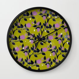 Rose VineAngle Wall Clock
