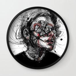 Deep wounds Wall Clock