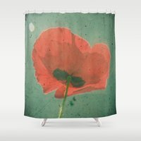 poppy Shower Curtains featuring Poppy by Cassia Beck