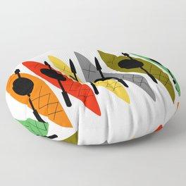 Kayaks in Earth Tone Colors Floor Pillow