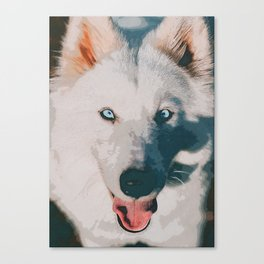 wolf poster Canvas Print