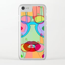 At a glance alien Clear iPhone Case