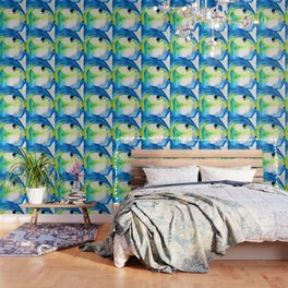 Tropical Fish 3 - Abstract Art By Sharon Cummings Wallpaper