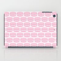 macaroon iPad Cases featuring French Macaron Pattern - Cute Food Art - Pink Macaroon by French Macaron Art Print and Decor Store