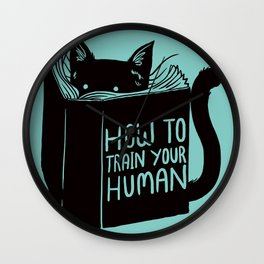 Cat Reader Advice Wall Clock