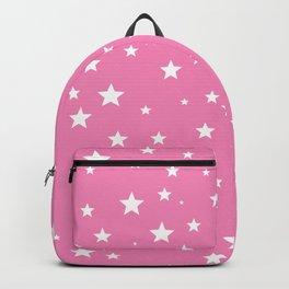 Scattered Stars on Pink Backpack