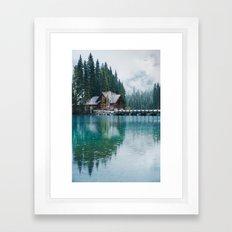 Emerald Lake Lodge Framed Art Print