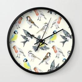 Illustrated Birds Wall Clock
