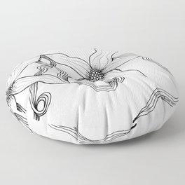 Huia Art Clematis Ribbon Floor Pillow