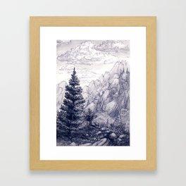 Jury Mountain Framed Art Print