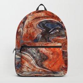 Orange marble watercolor Backpack