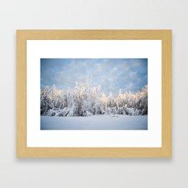 Snowy Tree Horizion Framed Art Print
