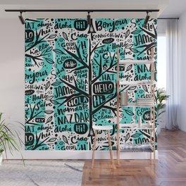 hello ni hao ciao konnichiwa Wall Mural