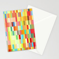 colorful rectangle grid Stationery Cards