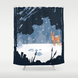 Forested Tech Shower Curtain