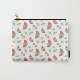 Pineapple and watermelon in sunglasses pattern Carry-All Pouch