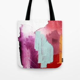 Desert Daydreams [3]: a colorful abstract mixed media piece in purple blue pinks and orange Tote Bag