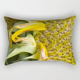 A Flower Of Sunshine Seed Lights Rectangular Pillow