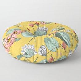 Water lilies florals Floor Pillow