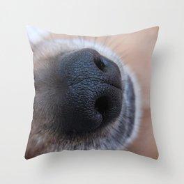 Eddie's Nose Throw Pillow