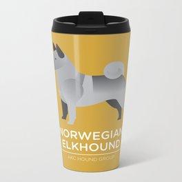 Norwegian Elkhound Metal Travel Mug