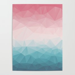 The Colorful Low Poly I Poster