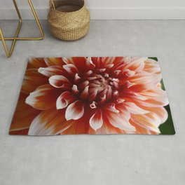 Cognac-Colored Dahlia Rug