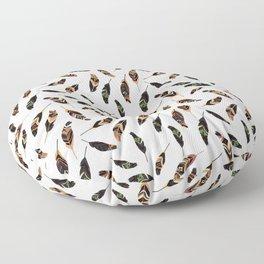Feathers seamless pattern, vector illustration Floor Pillow