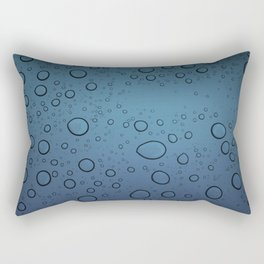 It was Night and the Rain fell Rectangular Pillow